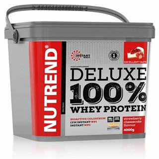 Nutrend Deluxe 100 % Whey 4000 g Jahodový cheescake