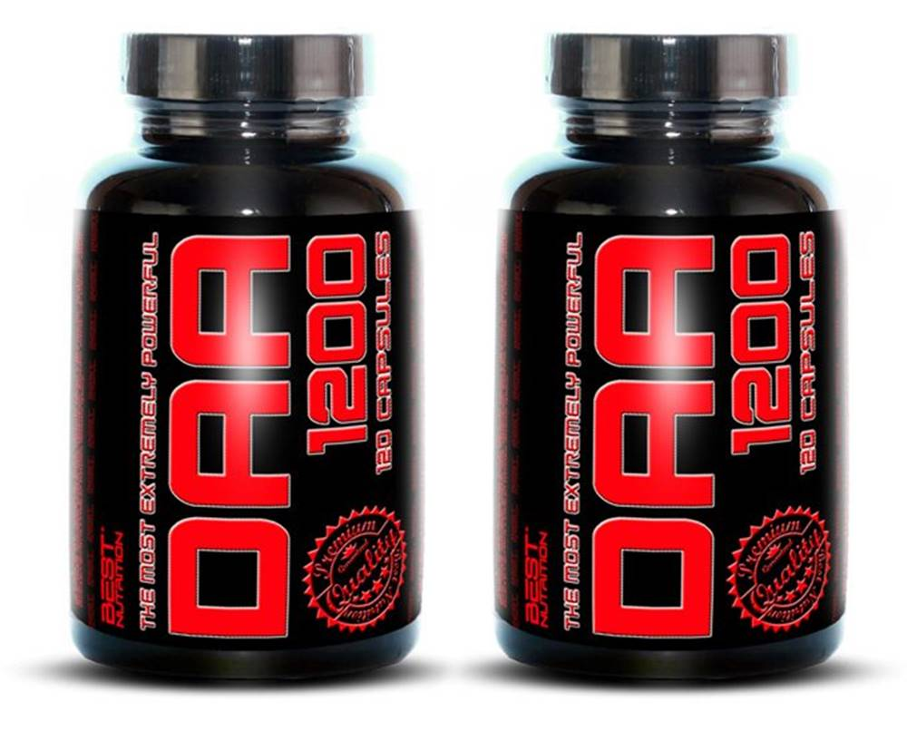 Best Nutrition 1+1 Zadarmo: DAA 1200 od Best Nutrition 120 kaps. + 120 kaps.