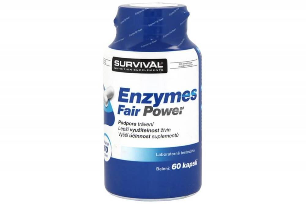 Survival Enzymes Fair Power - tráviace enzýmy 60kps.