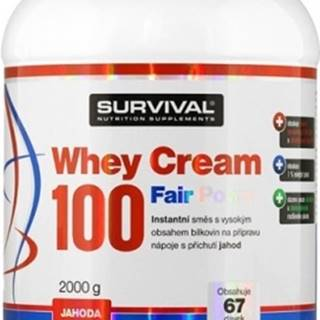 Survival Whey Cream 100 Fair Power 2000 g variant: čokoláda