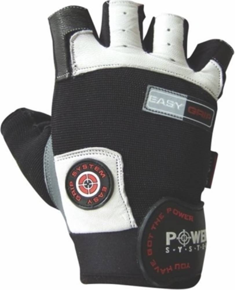 Power System Power System Fitness rukavice Easy Grip biele variant: L